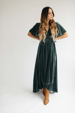lani dress // green floral