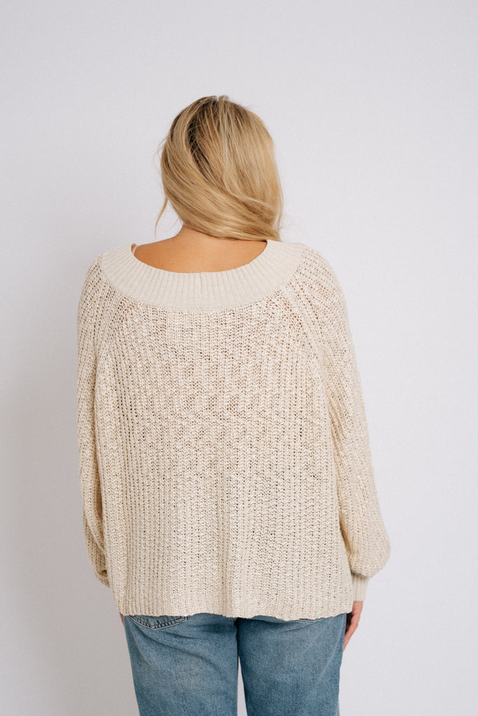 hershel knit sweater // oatmeal