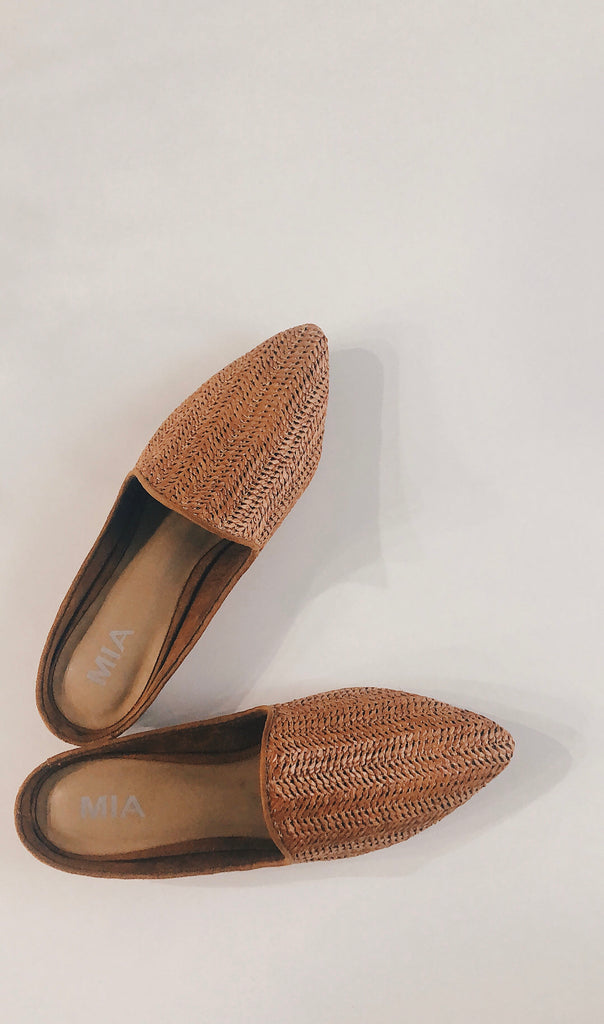 willa woven mule in brown *restocked*