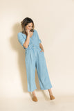 elle denim jumpsuit