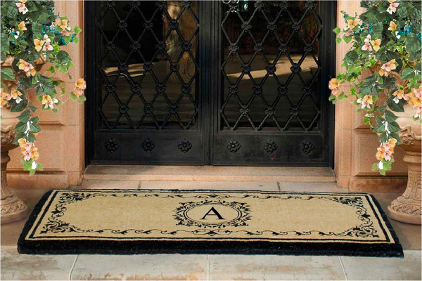 Refresh your outdoor decor with our Monogrammed Doormats