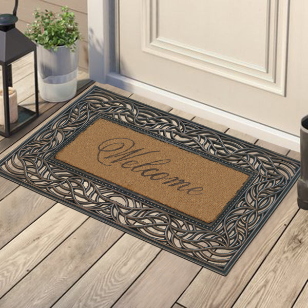 "A1HC Coir and Rubber Welcome Doormat(18""X30"")"