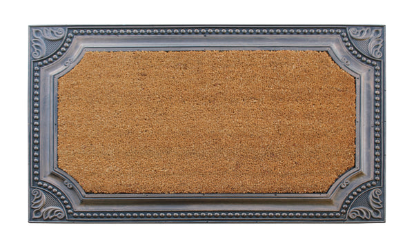 Angela Floral Border Bronze Doormat