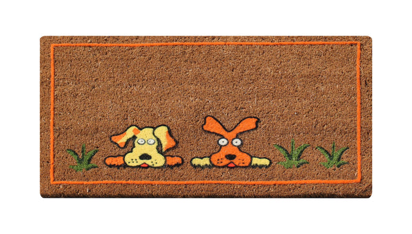 A1 Home Collections First Impression Flocked Dogs Coir Entry Mat