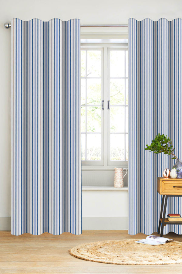 Bryson Stripe Organic Cotton Drapery PACK OF 2