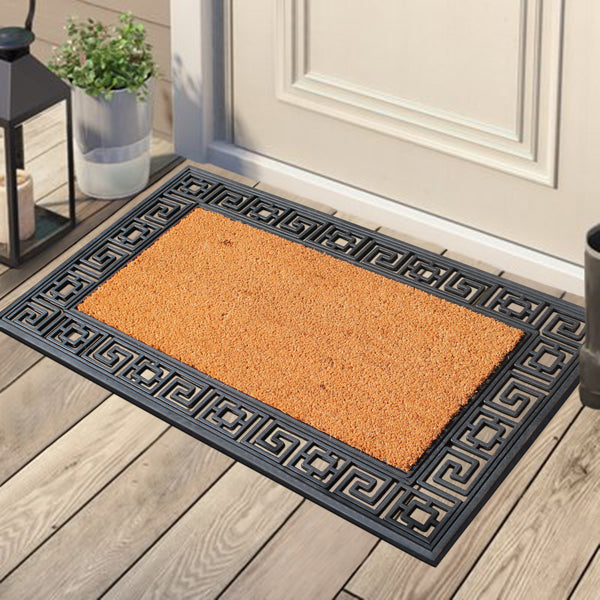 Greek Key Border Doormat