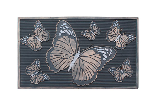 A1HC First Impression Butterfly Rubber Pin Mat, Beautifully Copper, Black - A1HCSHOP