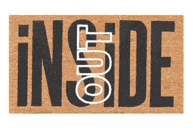 "First Impression Inside Out Coir Entry Fade Resistant Flocked Doormat, 18"" X 30"""