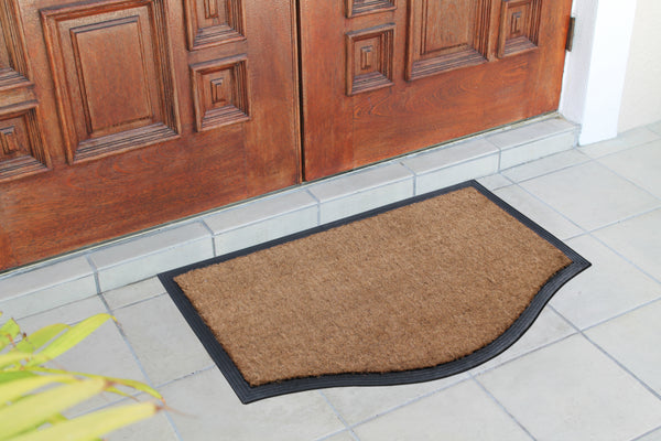 Plain Coir Border Doormat