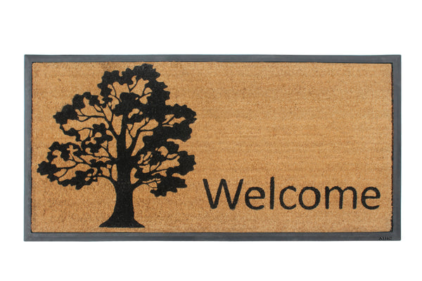 Welcome Tree Molded Doormat