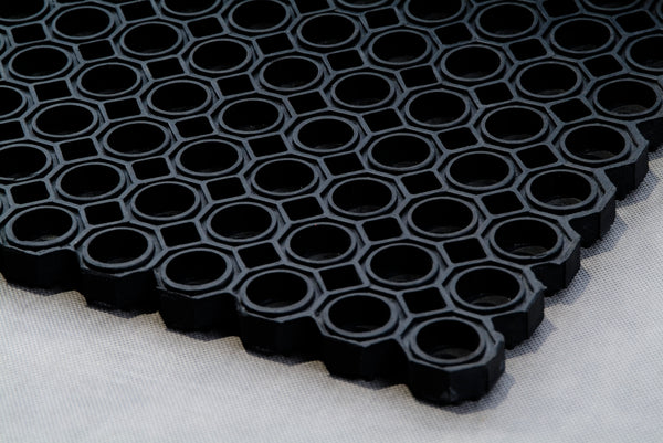 Octagonal type 100% Rubber Hollow Mat