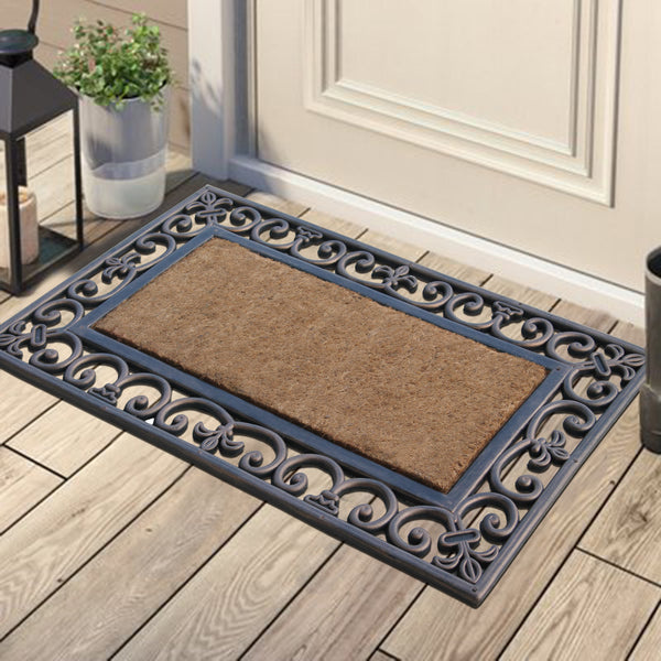 A1HC First Impression Doormat | Rubber and Coir, Brown/Beige - A1HCSHOP