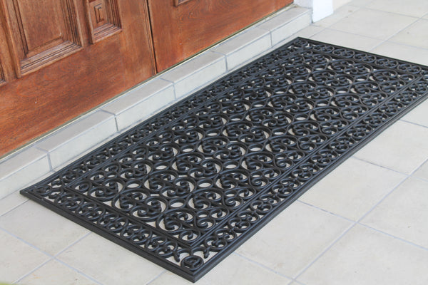 A1HC First Impression Rubber Paisley, Beautifully Hand Finished,Thick, 30X60 Black Artistic - A1HCSHOP