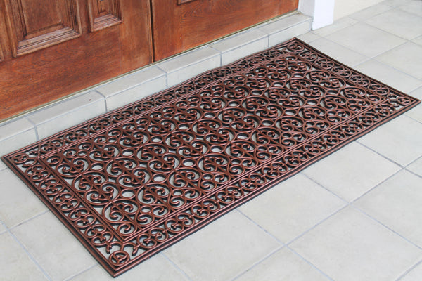 A1HC First Impression Rubber Paisley, Beautifully Hand Finished,Thick, 30X60 Copper Artistic - A1HCSHOP