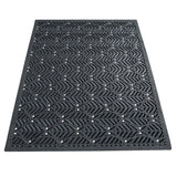 Leaf Pattern Rubber Doormat