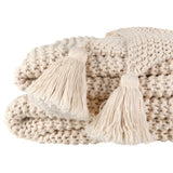Organic Cotton Chunky Knit Throw Ivory