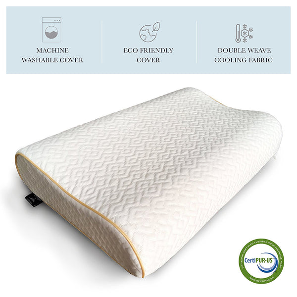 Gel Coated Contour Memory Foam Pillow