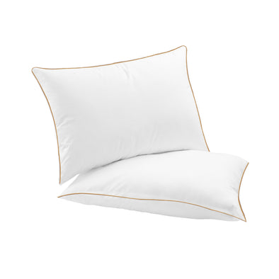 "Regal Chamber Duck Down Organic Cotton Pillow, 20"" X 30"""