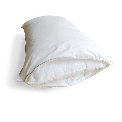 "Down Alternative Pillow in a Pillow with Shredded Memory Foam Inner - White, 20"" X 30"""