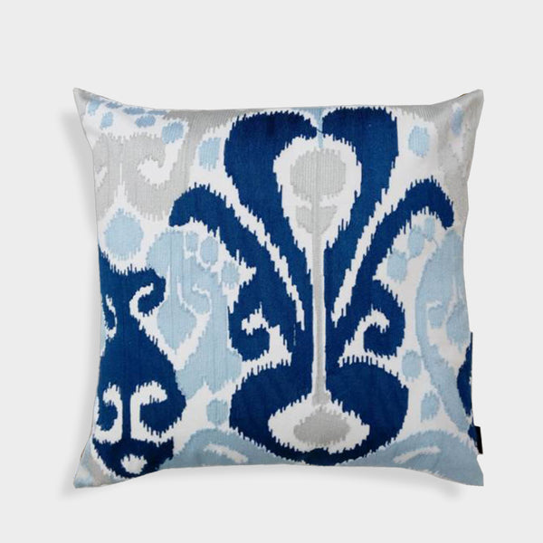 Colrain Ikat Crewel Embroidered 20-Inch Throw Pillow