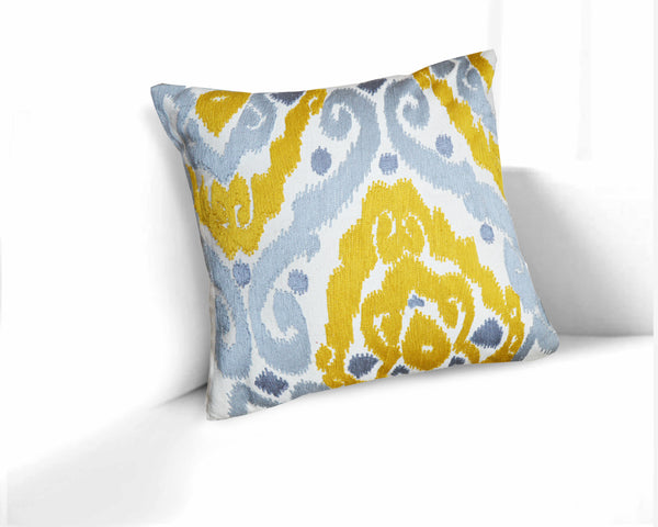 Colrain Ikat Sunny Yellow 20-Inch Throw Pillow
