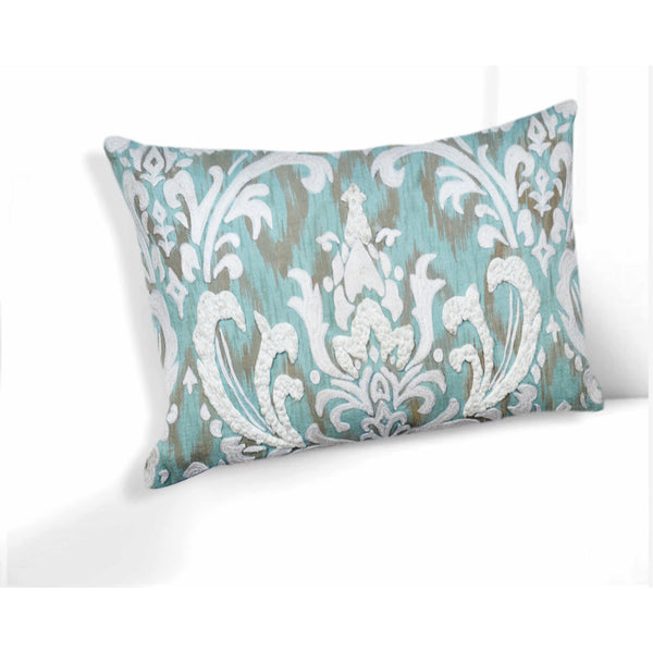 Bethany Light Teal Throw Pillow