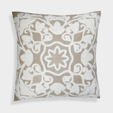 Julia Handcrafted Jute 20-Inch Throw Pillow