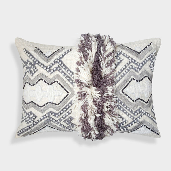"A1HC Organzza Handcrafted Moroccan Decorative Throw Pillow (14"" X 20"" X 4"")"