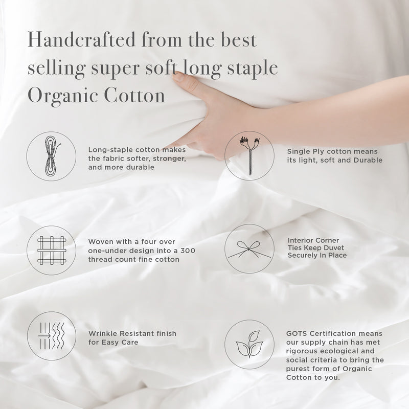 ORGANIC COTTON WRINKLE FREE DUVET