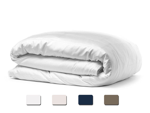Solid Organic Cotton Wrinkle Resistant White Duvet Cover