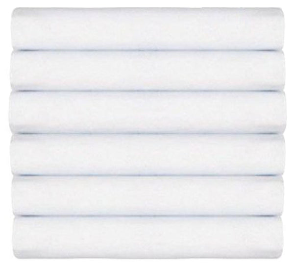 Solid Organic Cotton Wrinkle Resistant Extra Deep White Fitted Sheet 6 Pack