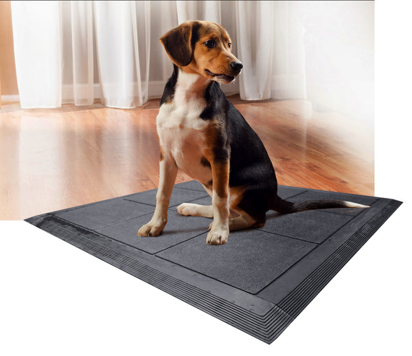 A1HC First Impression Non Slip & Non Scratch 36 in. x 36 in. 100% Rubber Kennel Mat - A1HCSHOP