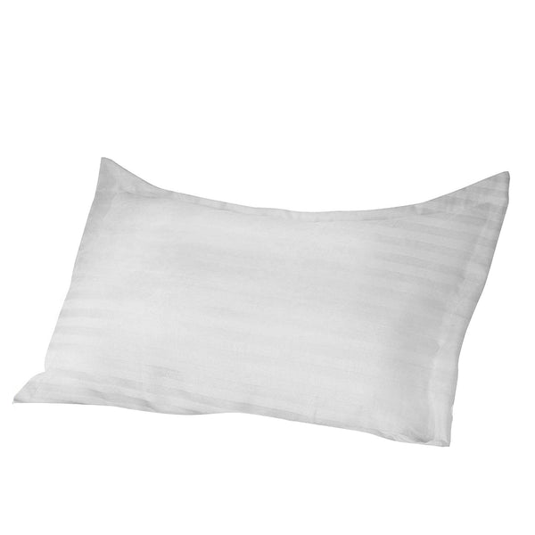"300TC White Stripe cotton Anti Mite Anti Bacterial pillow case Pair, 21"" x 30"" - A1HCSHOP"