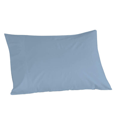 "100% Cotton Light Blue Color Pillowcase Pair, 21"" x 32"""