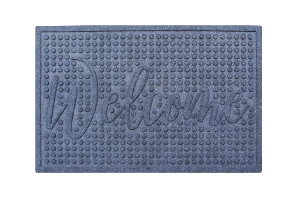 A1 Home Collections Waterretainer Indoor/Outdoor Doormat, 2' x 3', Skid Resistant, Easy to Clean, Catches Water and Debris, Grey - A1HCSHOP