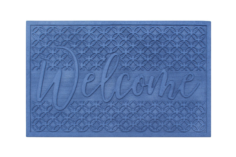 A1 Home Collections Waterretainer Indoor/Outdoor Doormat, 2' x 3', Skid Resistant, Easy to Clean, Catches Water and Debris, Blue - A1HCSHOP