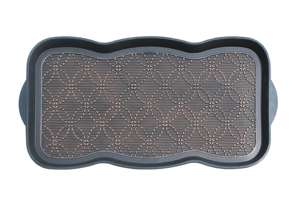 Geometric Bronze Pattern Boot Mat