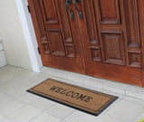 Welcome Black Border Doormat