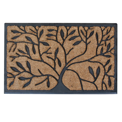 "First Impression Handcrafted Molded Natural Brush Mat, 18"" X 30"""