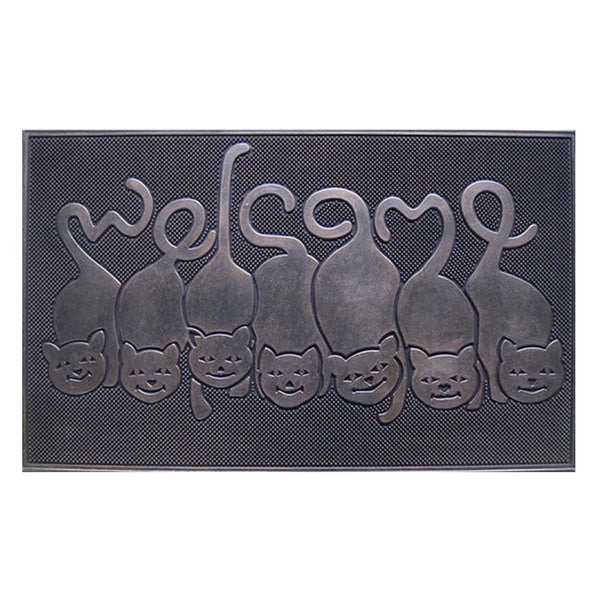 Cat Tail Rubber Welcome Doormat - A1HCSHOP