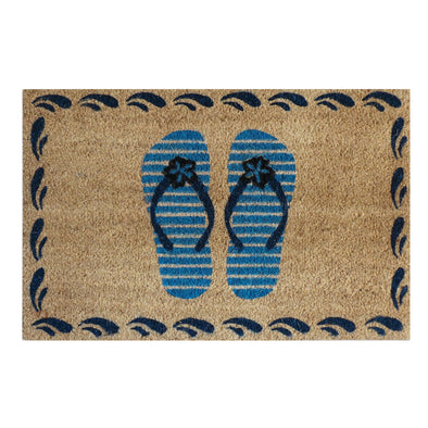 "First Impression Flip-Flops Coir Doormat, 18"" X 30"""
