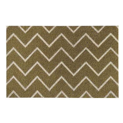 "First Impression PVC Tufted 'Chevron' Coir Doormat, 18"" X  30"""