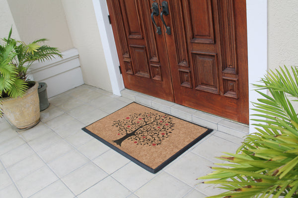 Tree Of Life Red Apple Doormat