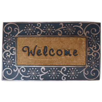 "First Impression A1 Home Large Hand Finished Coir Brush Welcome Mat (23.5"" X 38"")"
