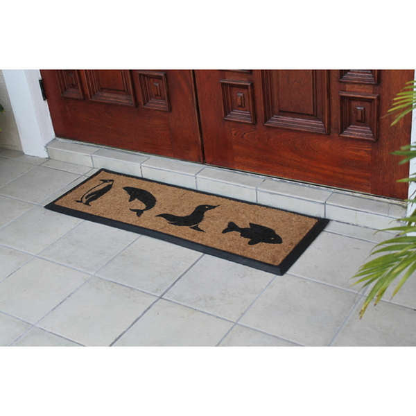 Seaside Fun Double Coir Door Mat