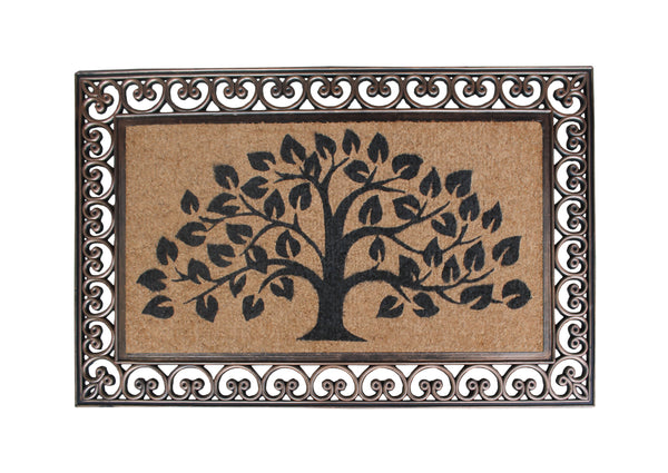 Tree Of Life Rubber And Coir Doormat