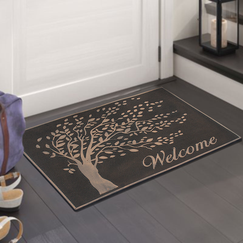 Falling Leaves Welcome Rubber Pin Mat