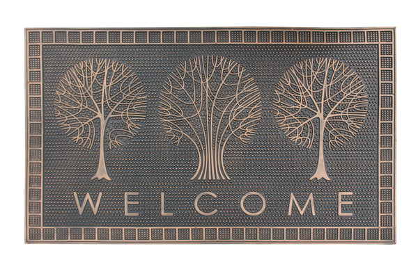 Welcome Trees Rubber Pin Mat