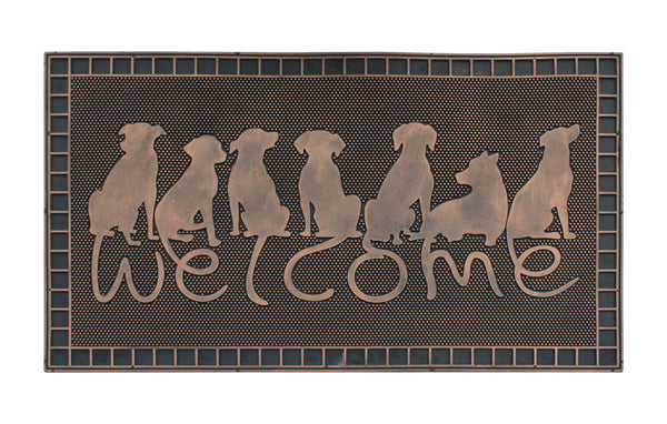Rubber Pin Mat Dog Tail Welcome