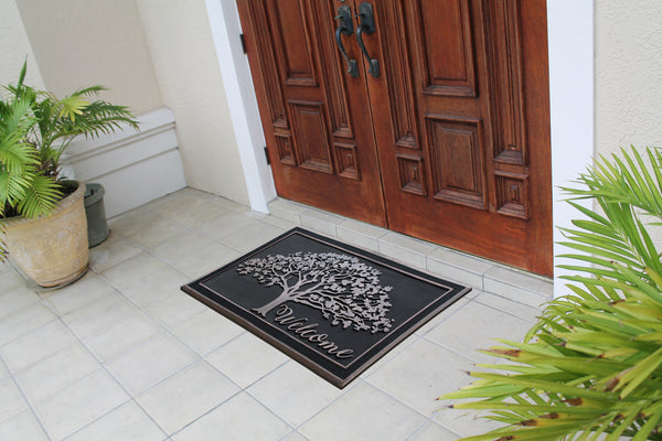 Oak Tree Design All Season Rubber Doormat